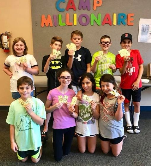 elementary-age students participate in Camp Millionaire