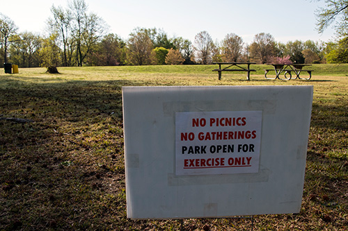 Trails in Anne Arundel County parks are open for walking, running, and biking but picnic facilities are unavailable for use due to the COVID-19 pandemic.