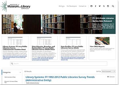 screenshot of data catalog homepage