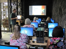 first class at the Hilo Public Library Computer Lab