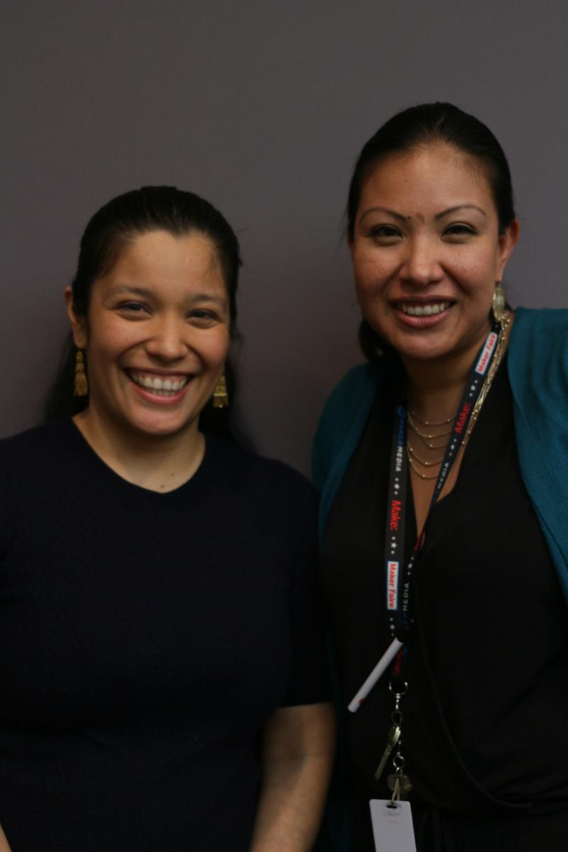 Myrna Tinoco and Delia Meza