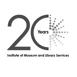 Thumbnail of the IMLS at 20 Logo Black White