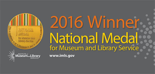 2016 Natoinal Medal for Museum and Library Services banner