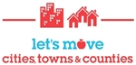Let's Move! Cities, Towns, and Counties logo
