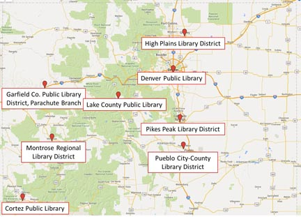 Project SPELL libraries are spread through out the diverse landscape of Colorado, serving different populations of low-income families.