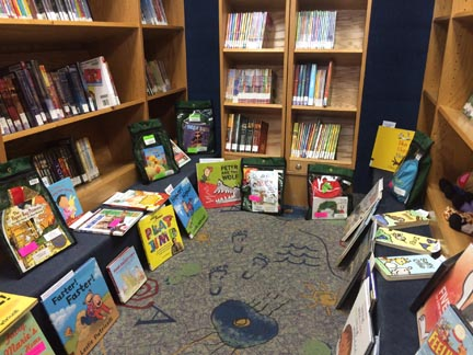 Montrose's Book Mobile provides a convenient library that excites children during pick-up and drop-off times at Montrose Early Childhood Center.