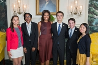 First Lady Michelle Obama with the 2013 National Student Poets