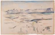 The Chaîne de l'Etoile Mountains (La Chaîne de l'Etoile avec le Pilon du Roi), 1885–1886. Watercolor and graphite on wove paper