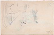 Unfinished Landscape, undated. Watercolor and graphite on wove paper