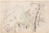 Trees (Arbres); c. 1900, possibly earlier. Watercolor and graphite on laid paper