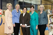 Marcia Warner, Susan Hildreth, Yvette Sanchez Fuentes, Molly Raphael, and Ginnie Cooper