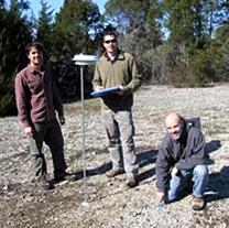 Drs. Quinn Long, Matthew Albrecht, Adam Smith install a microclimate station