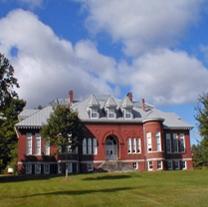 Exterior view of the L.C. Bates Museum, Hinckley, Maine.