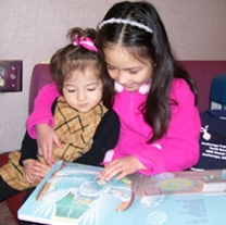 Young children discover a love of reading