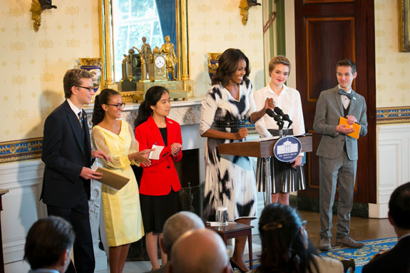 poets with Mrs. Obama in the white house