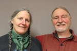 "Library patron Jean Marie Heinbuch with her spouse Ron ""Ronzo"" Repphun"