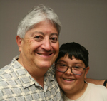 Miguel Angel Lopez and his father Patrick Lopez