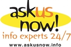 Ask Us Now logo: Info experts 24/7