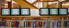 Ellsworth Public Library staff completion certificates on display