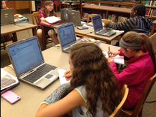 Pierce Middle School 6th graders using Culturegrams database