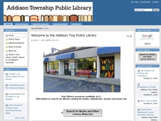 Plinkit website for Addison Township Public Library