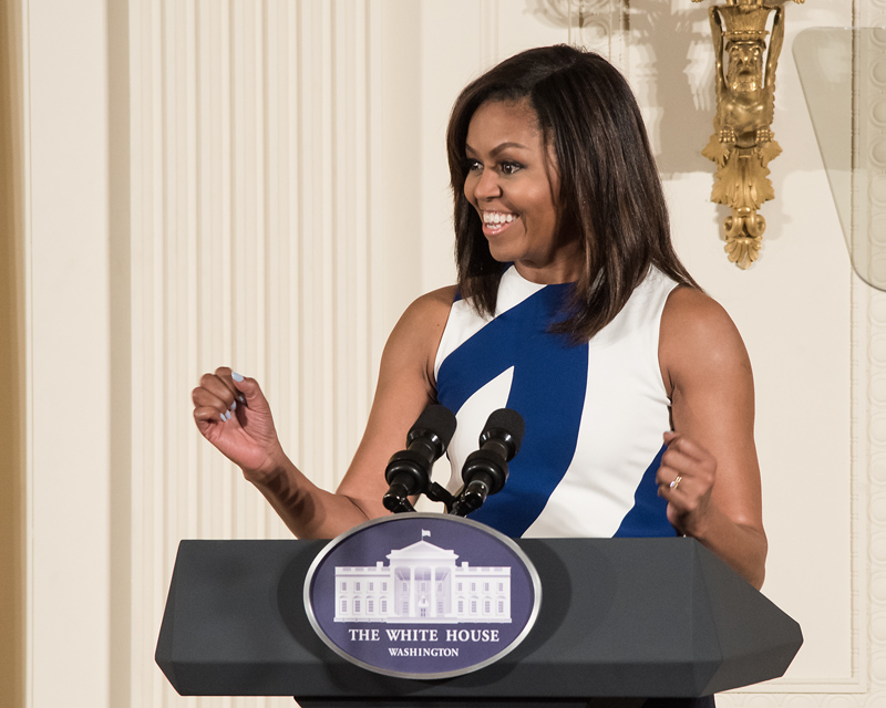 First Lady Michelle Obama at 2016 National Medals Ceremony