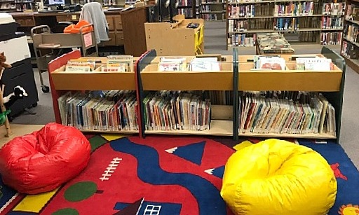 early literacy space at the library