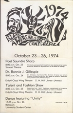 1974 Black Awareness Conference poster from North Carolina State University