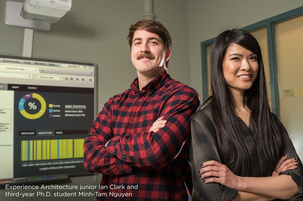 Experience Architecture junior Ian Clark and third-year Ph.D. student Minh-Tam Nguyen