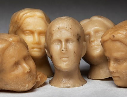 5 Wax ex-voto heads