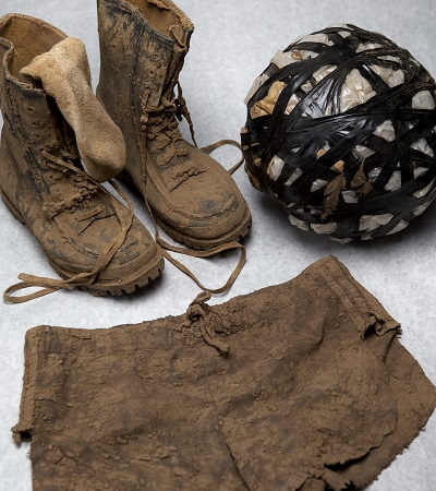 Mud boots, mud ball, and mud shorts
