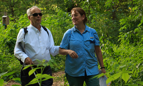 Lucy Gertz with Jerry Berrier at Habitat Wildlife Sanctuary