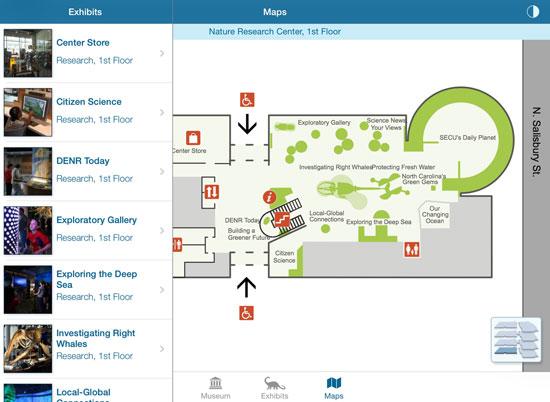 screenshot of museum's app