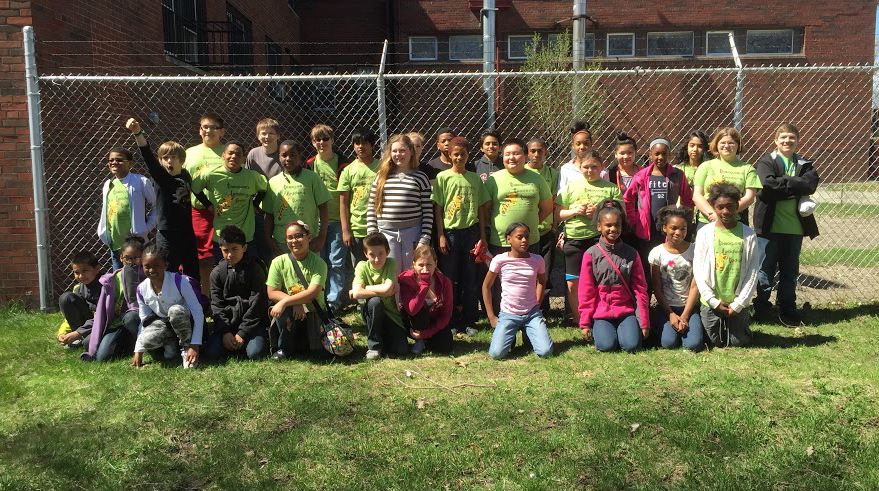 TLT students on a field trip to Cass Community Social Services, a local green and social justice organization.