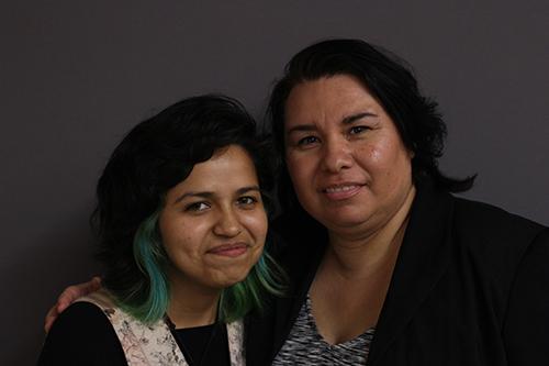 Library Tutor Elizabeth Campos with her colleague Zulma Zepeda
