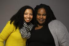 Tracey Baptiste (L) and Renée Watson (R)