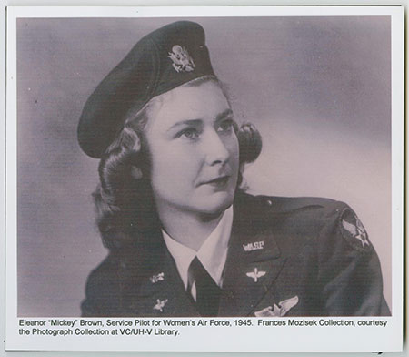 "Eleanor ""Mickey"" Brown, Service Pilot for Women's Air Force, 1945."