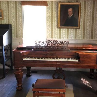 The Old Manse Downstairs Parlor Exhibit