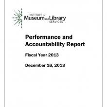 2013 Performance and Accountability Report Publication Thumbnail