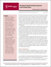 Cover of Research Brief No. 5: The State of Small and Rural Libraries in the United States