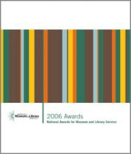 Cover of 2006 National Awards for Museum and Library Service brochure
