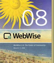 Cover of WebWise 2008 Conference Agenda