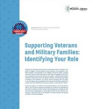 Cover of Supporting Veterans and Military Families: Identifying Your Role