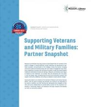 Cover of Supporting Veterans and Military Families: Partner Snapshot