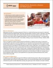 Cover of Talking Points: Museums, Libraries, and Makerspaces