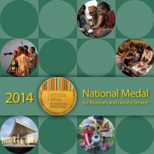 Cover of 2014 National Medal for Museum and Library Service brochure