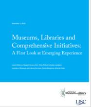 Cover of Museums, Libraries and Comprehensive Initiatives: A First Look at Emerging Experience