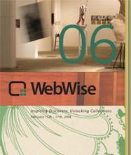 Cover of WebWise 2006 Conference Agenda