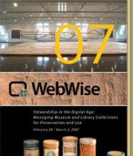 Cover of WebWise 2007 Conference Agenda