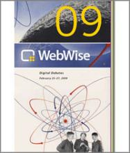 Cover of WebWise 2009 Conference Agenda